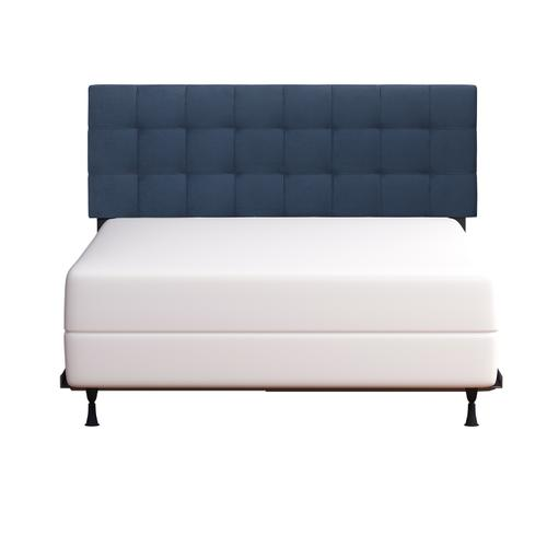 Delaney Upholstered Full/queen Headboard With Frame, Blue Velvet