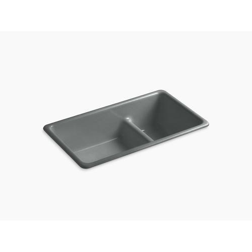 """Basalt 33"""" X 18-3/4"""" X 9-5/8"""" Smart Divide Top-mount/undermount Large/medium Kitchen Sink"""