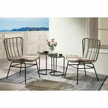 ACME Kanga 4Pc Patio Set - 45100 - Black & Wicker