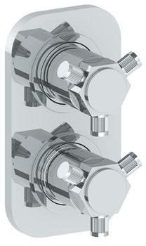 """Wall Mounted Mini Thermostatic Shower Trim With Built-in Control, 3 1/2"""" Product Image"""