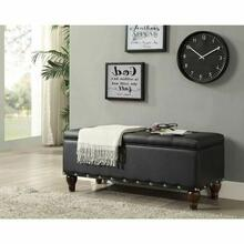 ACME Estee Bench w/Storage - 96438 - Black PU