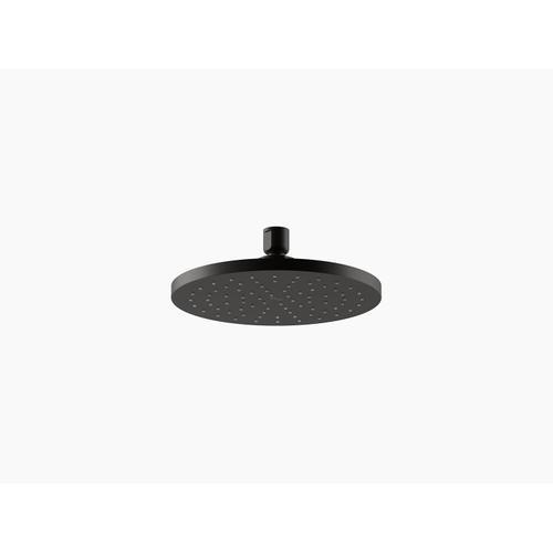 "Matte Black 8"" Rainhead With Katalyst Air-induction Technology, 1.75 Gpm"