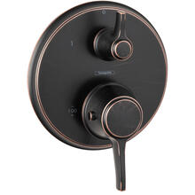 Rubbed Bronze Thermostatic Trim with Volume Control, Round