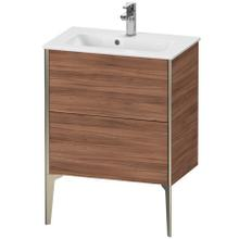 Vanity Unit Floorstanding Compact, Natural Walnut (decor)