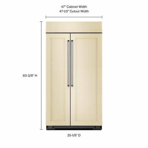 KitchenAid - 30.0 cu. ft 48-Inch Width Built-In Side by Side Refrigerator - Panel Ready PA