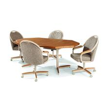 See Details - Douglas Extension Table with Tilt Swivel Chairs