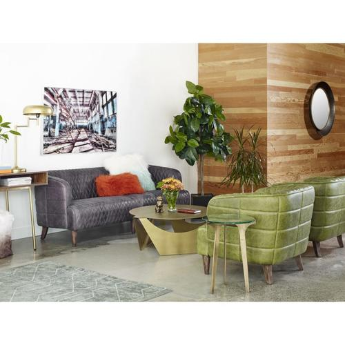 Moe's Home Collection - Magdelan Tufted Leather Arm Chair Emerald