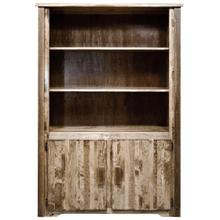 Homestead Collection Bookcase with Storage, Stain and Lacquer Finish