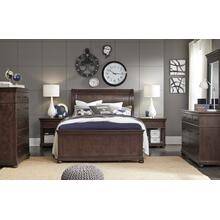 See Details - Canterbury - Warm Cherry Complete Sleigh Bed, Queen