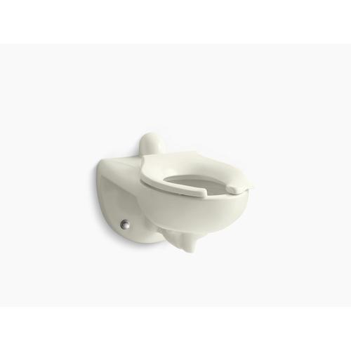 Biscuit Wall-mounted Rear Spud Flushometer Bowl