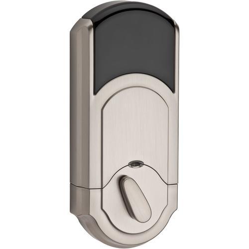Kwikset - 910 SmartCode Traditional Electronic Deadbolt with Zigbee Technology - Satin Nickel
