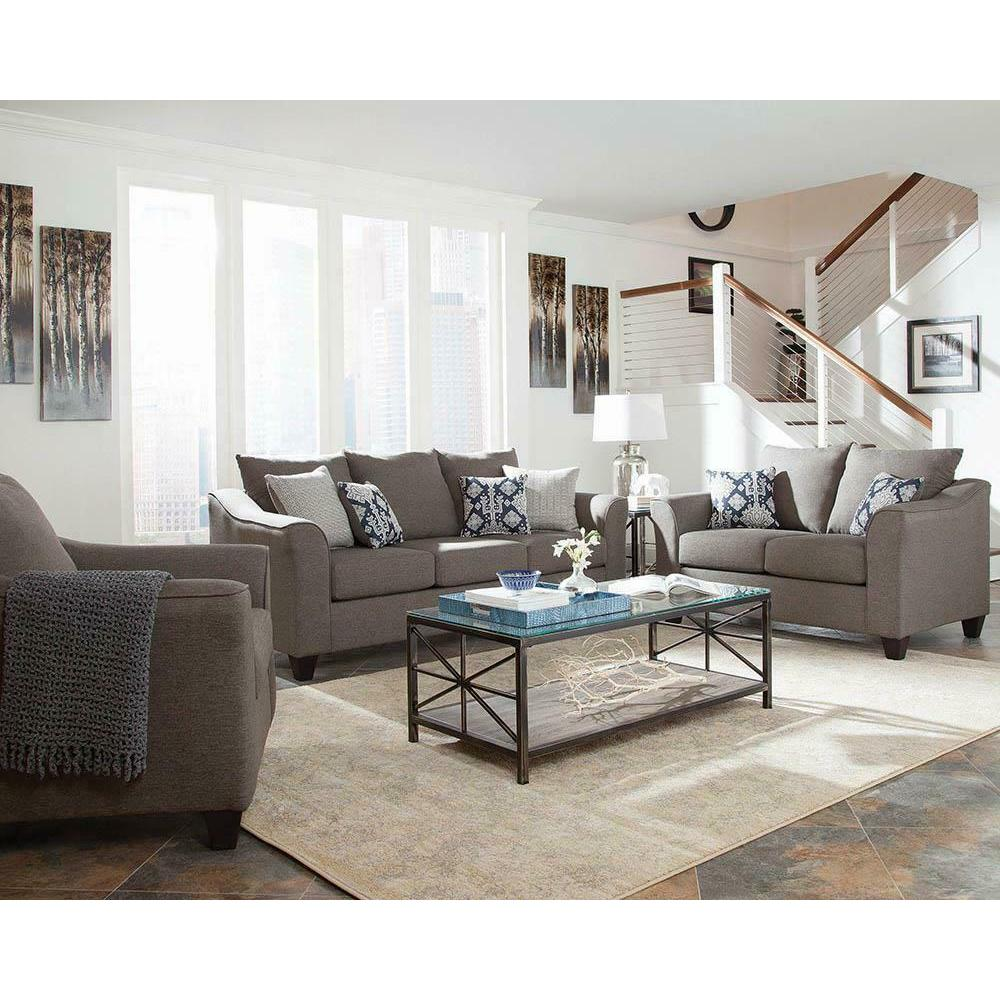 See Details - Salizar Transitional Light Grey Chair