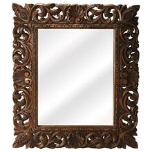 See Details - The beautifully carved mirror will add character and life to the otherwise simple room with the dramatic frame and perfect shape of this mirror. This wall mirror is elegant in its appearance and will surely complement the other furniture items present in your room. Whether you want to keep this state-of-the-art piece of home decor accessory in the living room, bedroom, or hallway, you can be rest assured that this wall mirror will look good in any room. Chose to hang the mirror over the wash basin or in the powder room, and be sure to add oodles of style to the space. The frame around the mirror is constructed using well-seasoned quality reclaimed wood, which is carved with lovely accents.