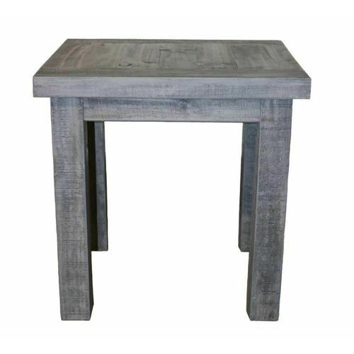 Million Dollar Rustic - Charcoal Gray End Table
