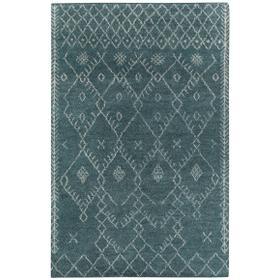 Kasbah-Diamond Aqua Hand Knotted Rugs