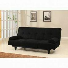 ACME Cybil Adjustable Sofa w/2 Pillows - 05855W-BK - Black Microfiber