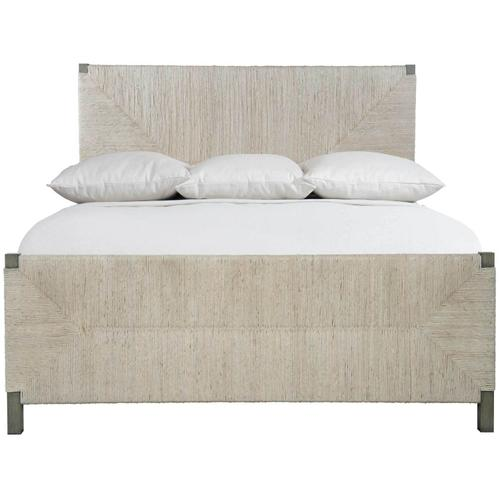 King Alannis Woven Panel Bed in Rustic Gray
