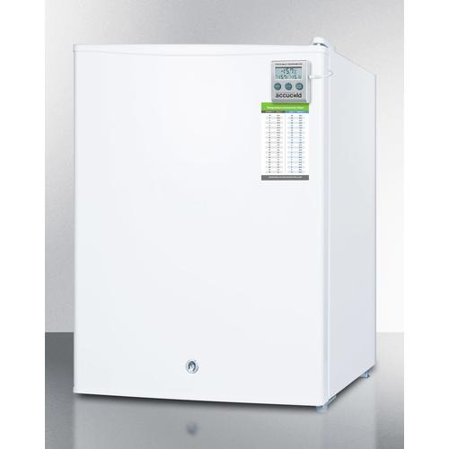 Summit - Compact Manual Defrost All-freezer for Medical/general Purpose Use, With Alarm, Hospital Grade Cord, External Thermometer and Lock