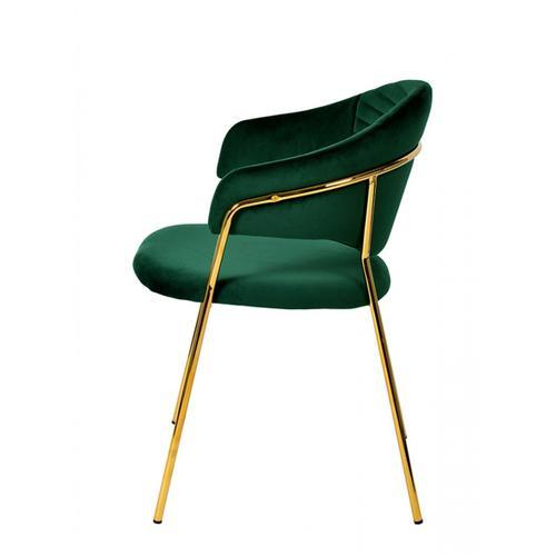 VIG Furniture - Modrest Trevor Modern Green Velvet & Gold Dining Chair (Set of 2)