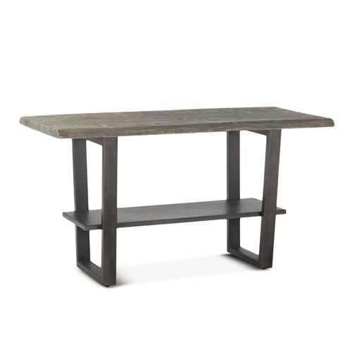 """Steamboat 66"""" Gathering Table Weathered Gray"""