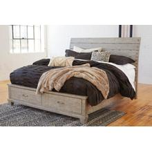 View Product - Naydell King Storage Bed Rustic Gray