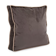 "20"" Gusseted Pillow Bella Pewter - Down Insert"