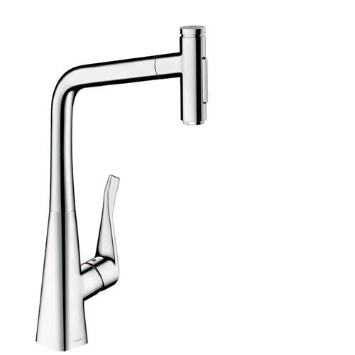 Chrome HighArc Kitchen Faucet, 2-Spray Pull-Out, 1.75 GPM