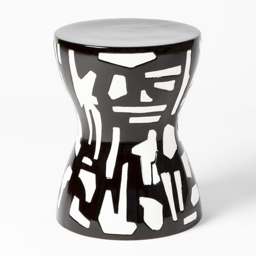 See Details - Abstract Stool-Black/White
