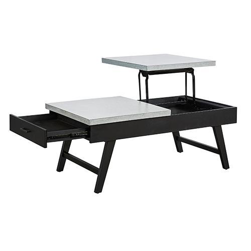Progressive Furniture - Lift-Top Cocktail Table - Concrete Gray/Black Finish
