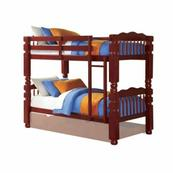 ACME Benji Twin/Twin Bunk Bed - 02570 - Cherry