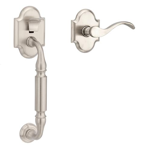 Satin Nickel with Lifetime Finish Canterbury Handle Grip Sectional