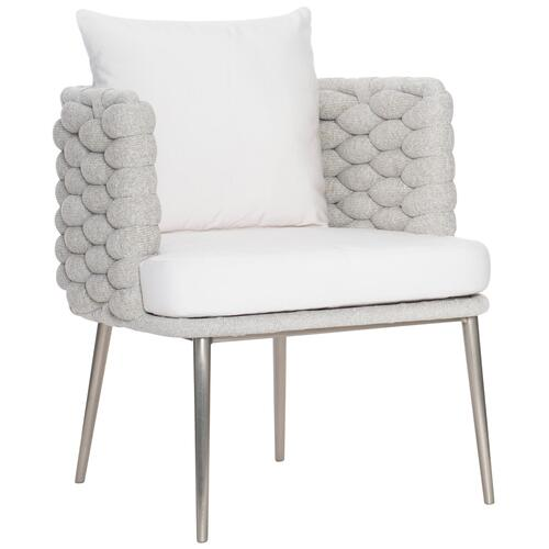 Bernhardt - Santa Cruz Arm Chair in Knitted Sock Weave in Nordic Gray