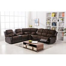 Camilla Two-Tone Champion Chocolate & Brown Reclining Sectional