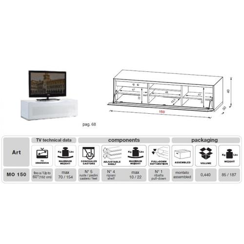 Gallery - Modrest Modena - MO-USA2 White Made in Italy TV Entertainment System