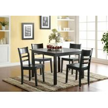 ACME Veles 5Pc Pack Dining Set - 72500 - Black