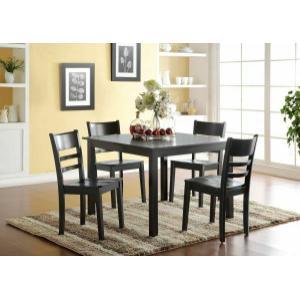 Acme Furniture Inc - ACME Veles 5Pc Pack Dining Set - 72500 - Black