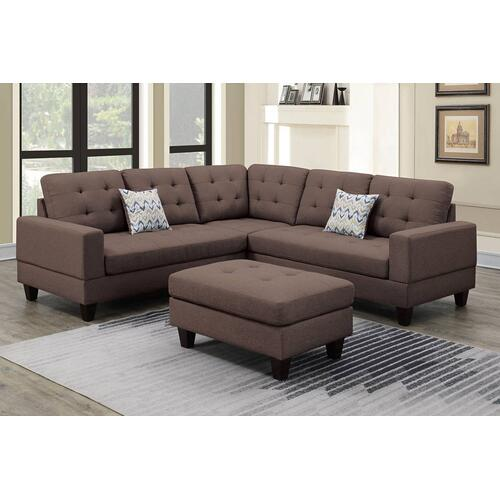3-pc Sectional W/2 Accent Pillow (ottoman Included)
