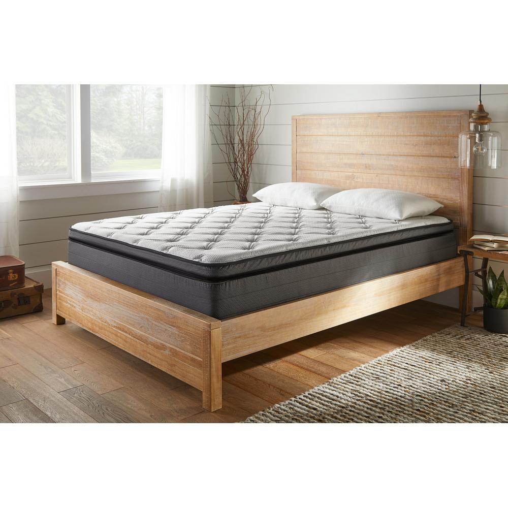 """See Details - American Bedding 14"""" Plush Pillow Top Mattress, Queen"""