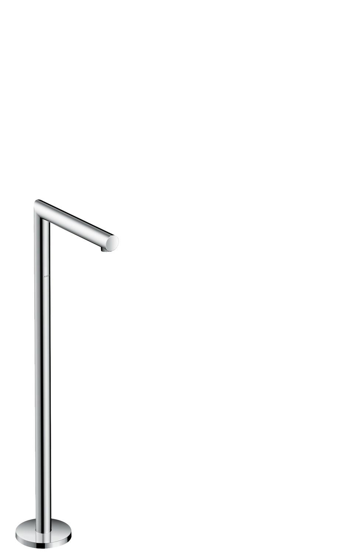 Chrome Bath spout straight floor-standing