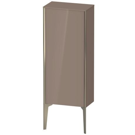 Semi-tall Cabinet Floorstanding, Cappuccino High Gloss (lacquer)
