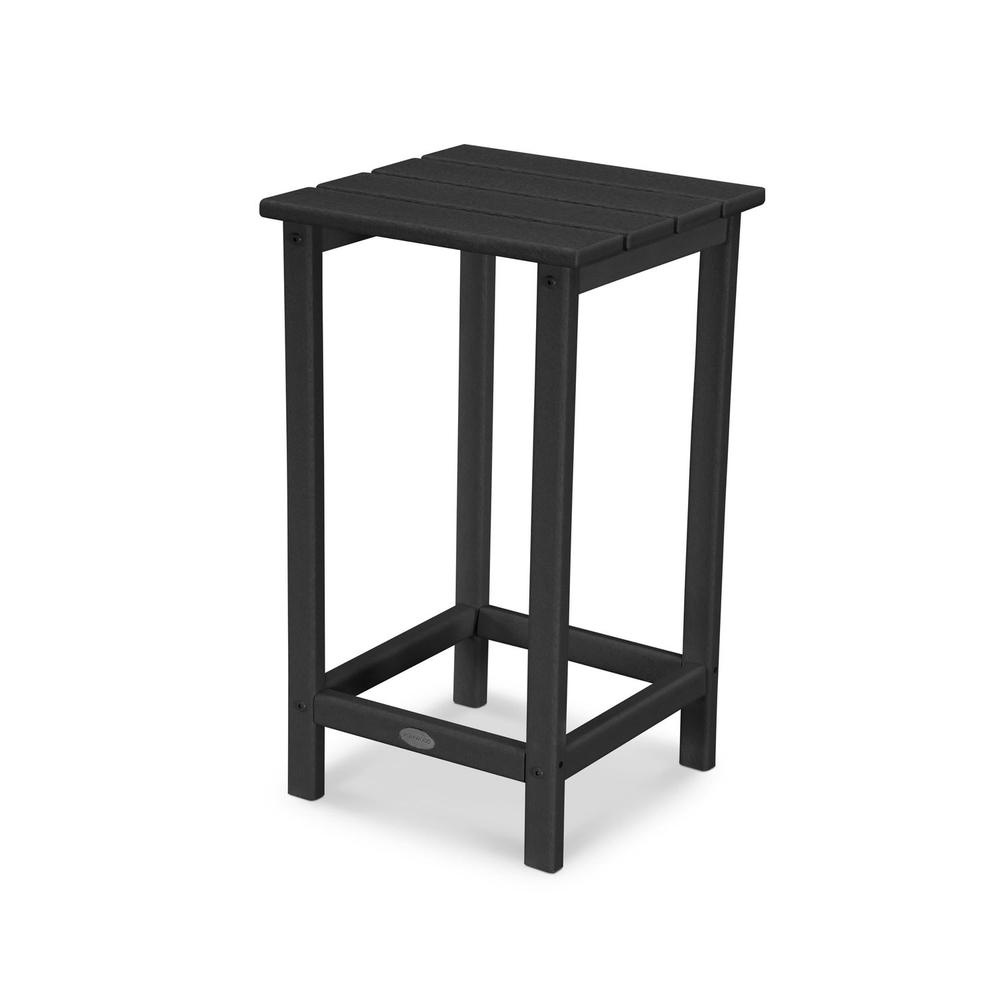 "Black Long Island 26"" Counter Side Table"
