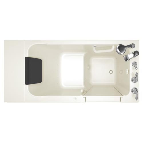 Luxury Series 28x48-inch Right Drain Walk-in Tub Air Spa with Tub Faucet  American Standard - Linen