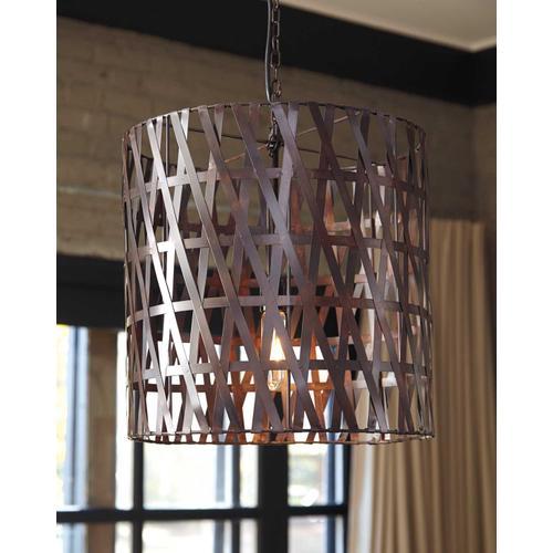 Ashley Furniture - Metal Pendant Light (1/CN) Pendant Light - Antique Copper Finish Collection Ashley at Aztec Distribution Center Houston Texas