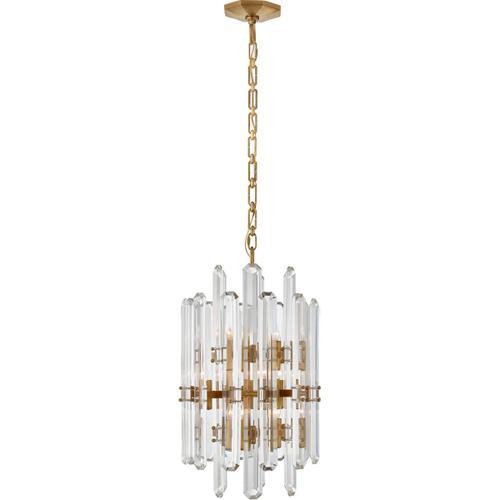AERIN Bonnington 12 Light 16 inch Hand-Rubbed Antique Brass Chandelier Ceiling Light, Tall
