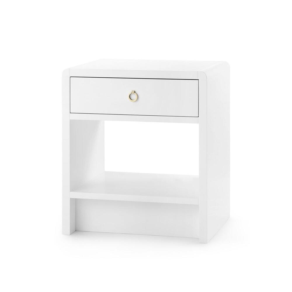 See Details - Benjamin 1-Drawer Side Table, White