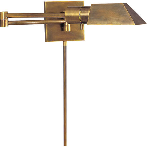 Studio 24 inch 40.00 watt Hand-Rubbed Antique Brass Swing-Arm Wall Light