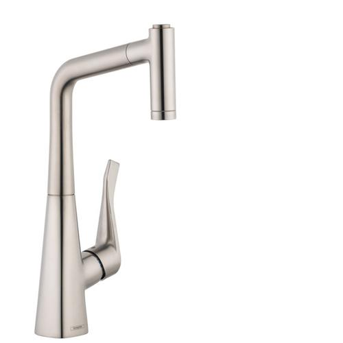 Steel Optic Prep Kitchen Faucet, 2-Spray Pull-Out, 1.75 GPM