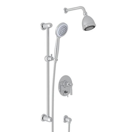 Polished Chrome Holborn Pressure Balance Shower Package with Holborn Metal Lever
