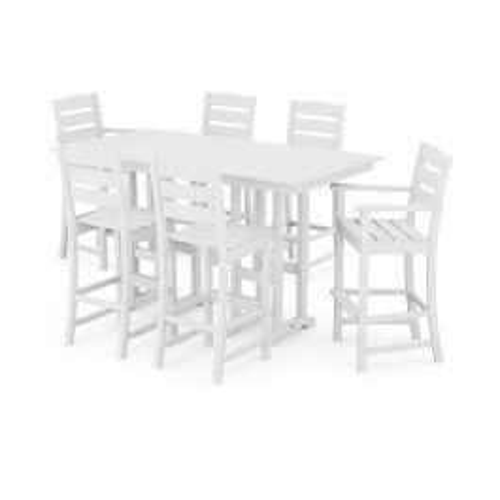 Polywood Furnishings - Lakeside 7-Piece Bar Set in White
