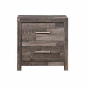 ACME Juniper Nightstand - 22163 - Transitional, Rustic - Wood (Solid Pine), Veneer (Melamine/Paper), MDF - Dark Cherry